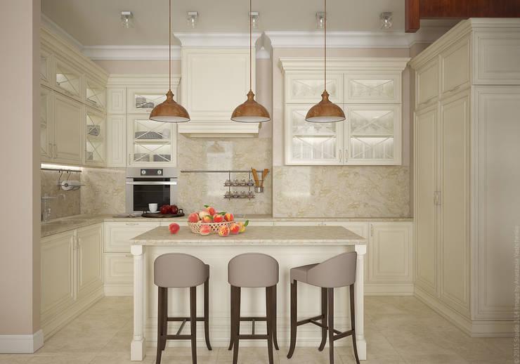 Кухня. Два этажа уюта: Кухни в . Автор – «Студия 3.14»