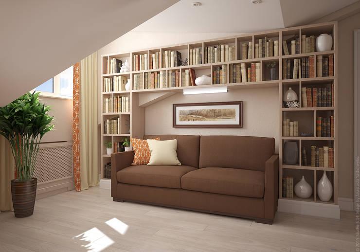 Холл. Два этажа уюта: Коридор и прихожая в . Автор – «Студия 3.14»
