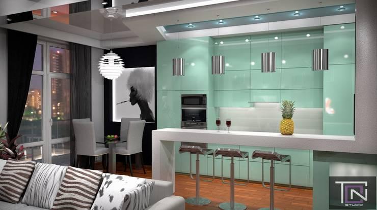 Интерьер кухни Кухня в стиле минимализм от Студия дизайна и проектирования ТОН Минимализм