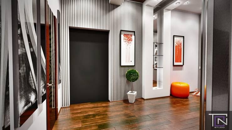 Дизайн - проект квартиры Коридор, прихожая и лестница в стиле минимализм от Студия дизайна и проектирования ТОН Минимализм