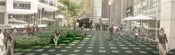 Concurso Centro Empresarial Santa Bárbara:  de estilo  por Pantoja Arquitectos