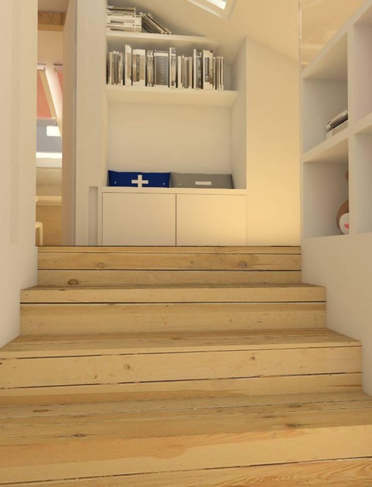 Koridor dan lorong oleh Sic! Zuzanna Dziurawiec, Modern Kayu Wood effect