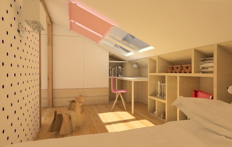 Nursery/kid's room by Sic! Zuzanna Dziurawiec, Modern Plywood