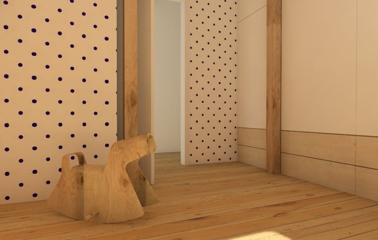 Nursery/kid's room by Sic! Zuzanna Dziurawiec, Modern Wood Wood effect