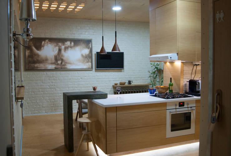 Этого не может быть или красота в посторе Кухня в стиле модерн от дизайн студия 'Понимание' Модерн
