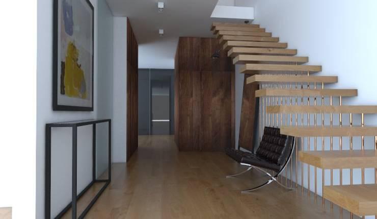 Hall : styl , w kategorii Korytarz, przedpokój zaprojektowany przez Sic! Zuzanna Dziurawiec,Nowoczesny Drewno O efekcie drewna