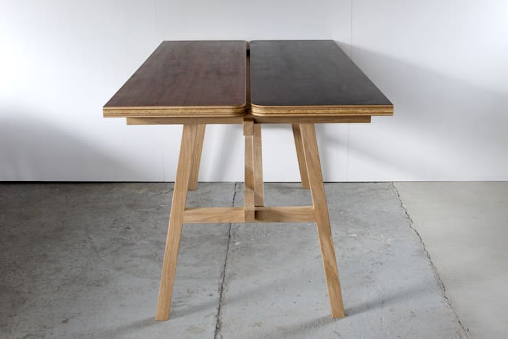 KNOCKDOWN TABLE: FLANGE plywoodが手掛けたダイニングルームです。,