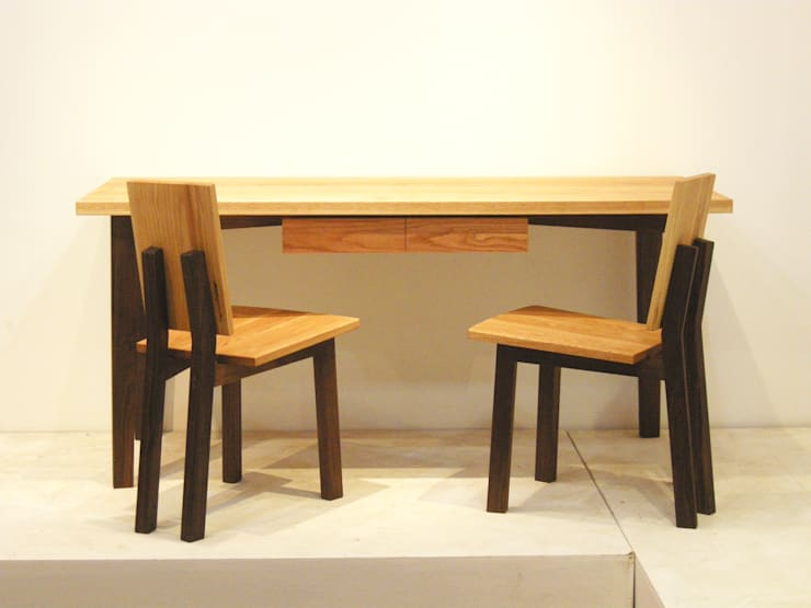 YK-Desk Set-2: 수제가구공방 YKhands의  다이닝 룸