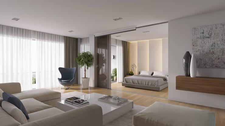 minimalistic Living room by Aleksandra  Kostyuchkova