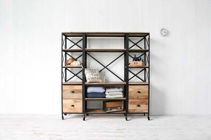 I/W Book Shelf - KR148-14: 올오브더빈티지 (all of the vintage)의  거실