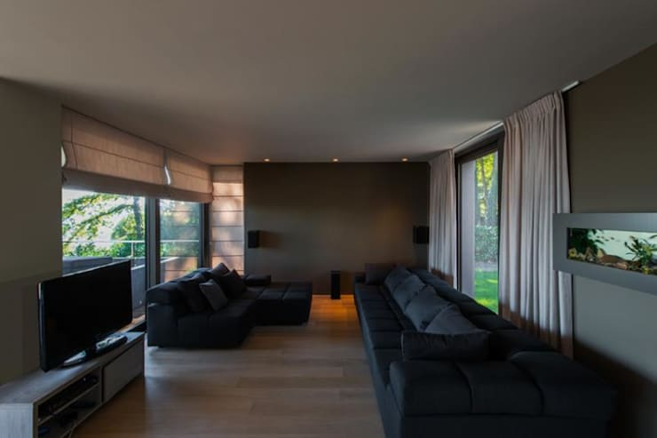 Projekty,  Salon zaprojektowane przez BURO5 - architectes & associés