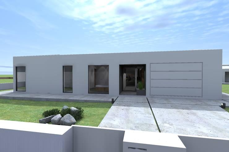 Casa AH: Casas minimalistas por Colectivo de Melhoramentos