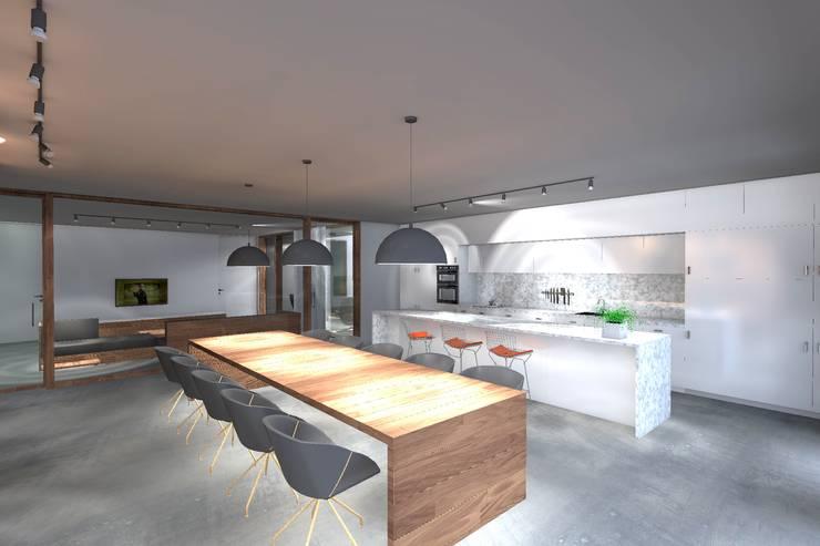 Casa ZL: Cozinhas  por Colectivo de Melhoramentos