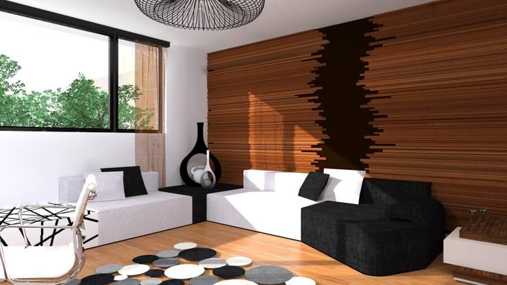 strefa wypoczynkowa: styl , w kategorii Domowe biuro i gabinet zaprojektowany przez Przytulne Wnętrze,Nowoczesny Drewno O efekcie drewna