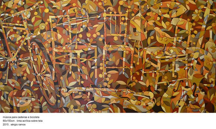 Música para Cadeiras e Bicicleta: Arte  por Sérgio Ramos Atelier e Galeria de Arte