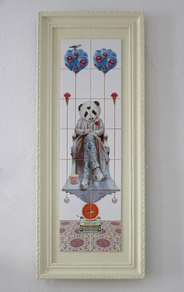 PANDA VISION:   por Surrealejos,Moderno Azulejo