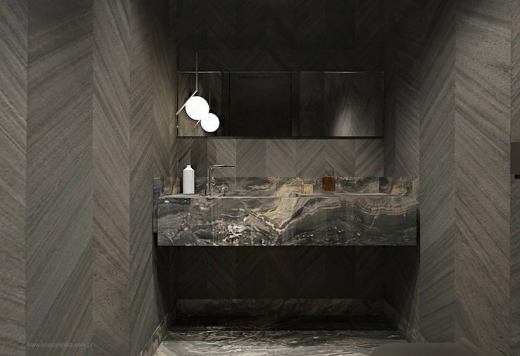 Łazienki: styl , w kategorii Łazienka zaprojektowany przez Katarzyna Kraszewska Architektura Wnętrz,