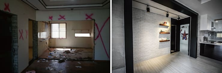 Before & After: (주)홈스토리의  주택