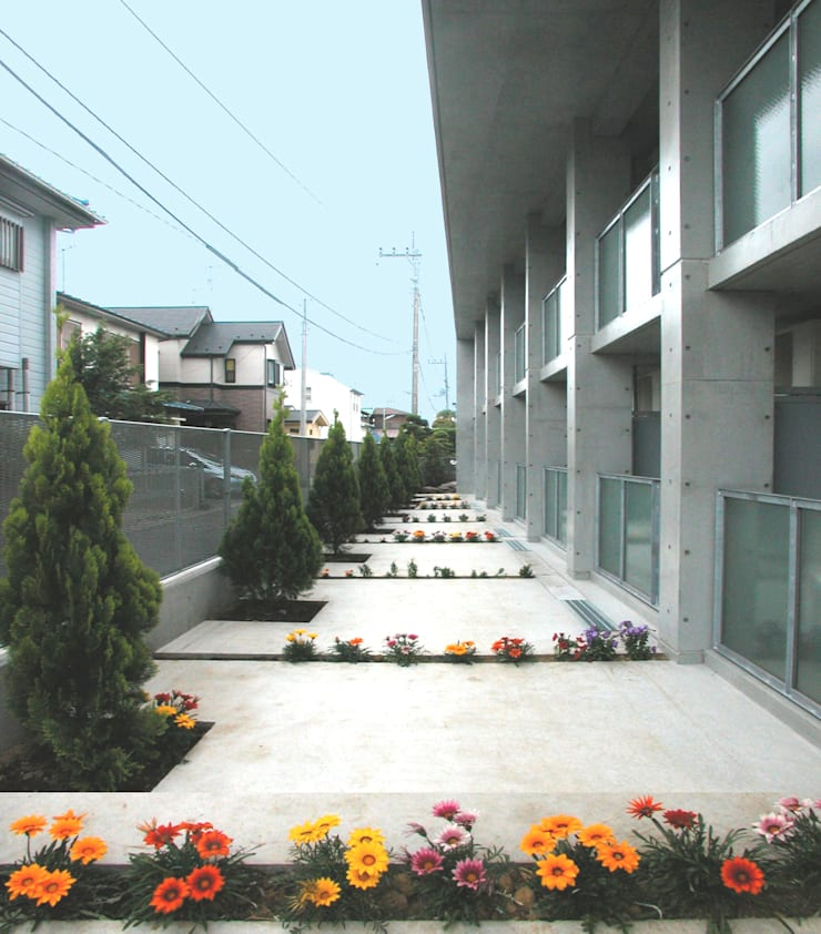 屋上を大地にして住宅をつくる: ユミラ建築設計室が手掛けた家です。,