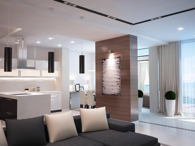 Кухня-гостиная Гостиная в стиле минимализм от 35KVADRATOV Минимализм