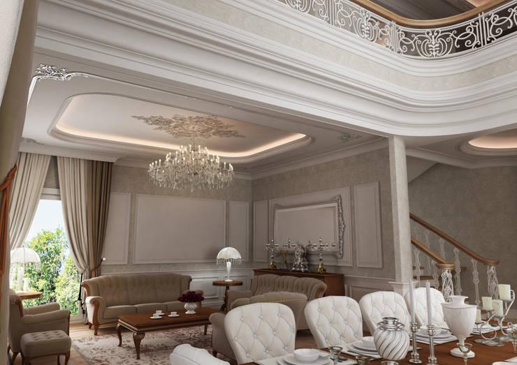 Hayal Mimarlık Mühendislik Proje İnş.San. Tic. Ltd.Şti. – Bir villa iç mekan çalışması:  tarz , Klasik Ahşap Ahşap rengi