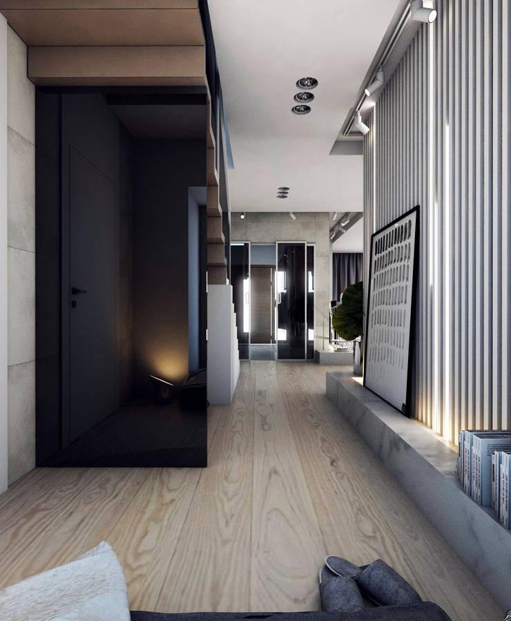 PROJEKT D11_15   | TARNOWSKIE GÓRY: styl , w kategorii Korytarz, przedpokój zaprojektowany przez A2.STUDIO PRACOWNIA ARCHITEKTURY