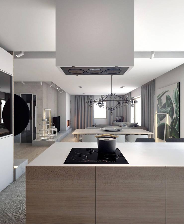 PROJEKT D11_15   | TARNOWSKIE GÓRY: styl , w kategorii Kuchnia zaprojektowany przez A2.STUDIO PRACOWNIA ARCHITEKTURY