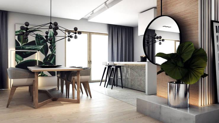 PROJEKT D11_15   | TARNOWSKIE GÓRY: styl , w kategorii Jadalnia zaprojektowany przez A2.STUDIO PRACOWNIA ARCHITEKTURY
