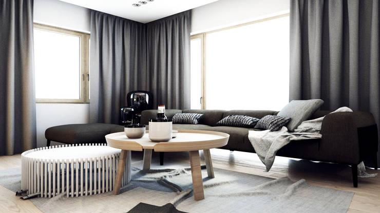 PROJEKT D11_15   | TARNOWSKIE GÓRY: styl , w kategorii Salon zaprojektowany przez A2.STUDIO PRACOWNIA ARCHITEKTURY