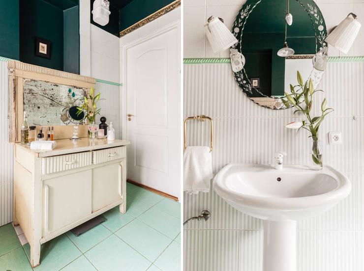 Our photoshoot of apartment design by Mama Studio: styl , w kategorii Łazienka zaprojektowany przez Ayuko Studio