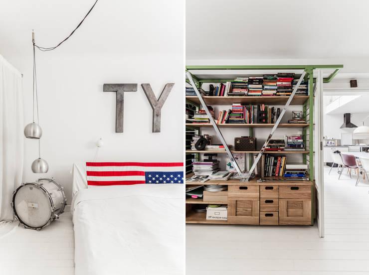 Our photoshoot of apartment design by Mama Studio: styl , w kategorii Sypialnia zaprojektowany przez Ayuko Studio
