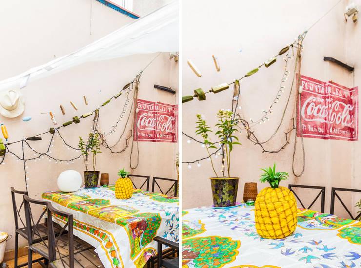 Our photoshoot of apartment design by Mama Studio: styl , w kategorii Jadalnia zaprojektowany przez Ayuko Studio