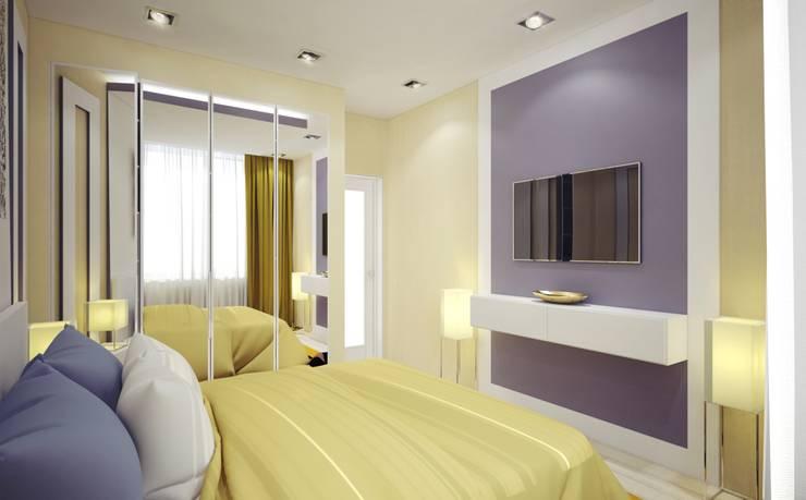 Спальня Спальня в эклектичном стиле от E.L.Design Эклектичный