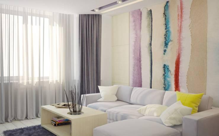 Гостиная Гостиные в эклектичном стиле от E.L.Design Эклектичный