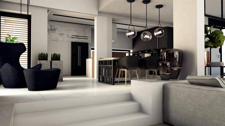 PROJEKT D15_15   |   KOSZALIN: styl , w kategorii Jadalnia zaprojektowany przez A2.STUDIO PRACOWNIA ARCHITEKTURY