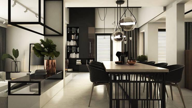 PROJEKT D15_15       KOSZALIN: styl , w kategorii Jadalnia zaprojektowany przez A2.STUDIO PRACOWNIA ARCHITEKTURY,Nowoczesny