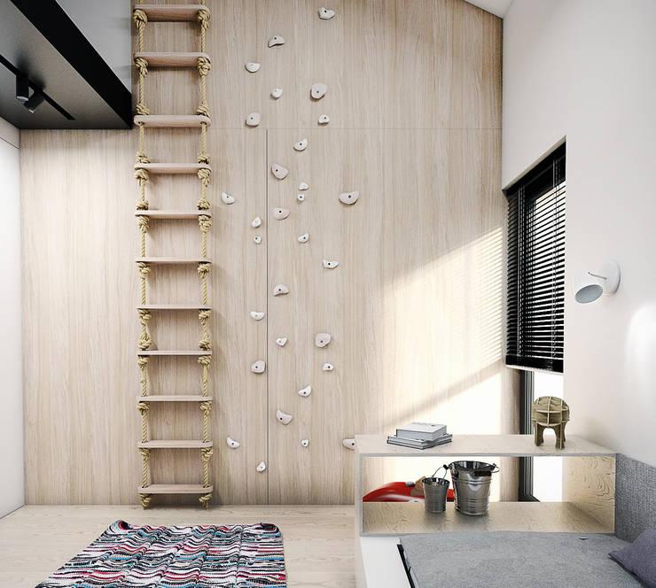 PROJEKT D15_15   |   KOSZALIN: styl , w kategorii Pokój dziecięcy zaprojektowany przez A2.STUDIO PRACOWNIA ARCHITEKTURY