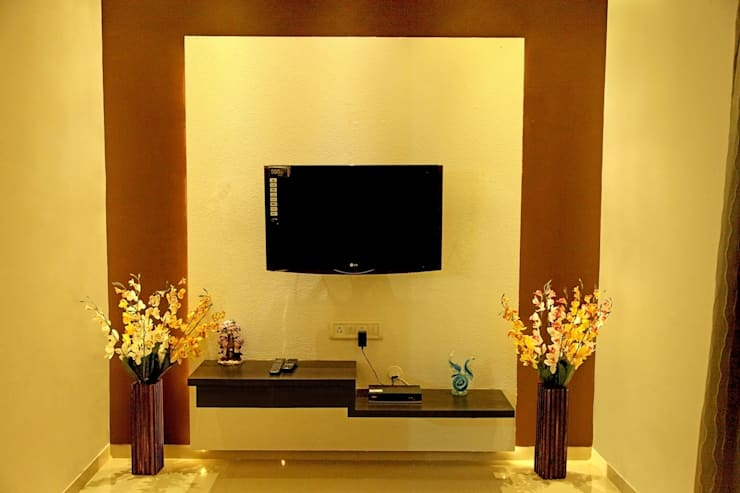 TV Unit Design:  Living room by ZEAL Arch Designs