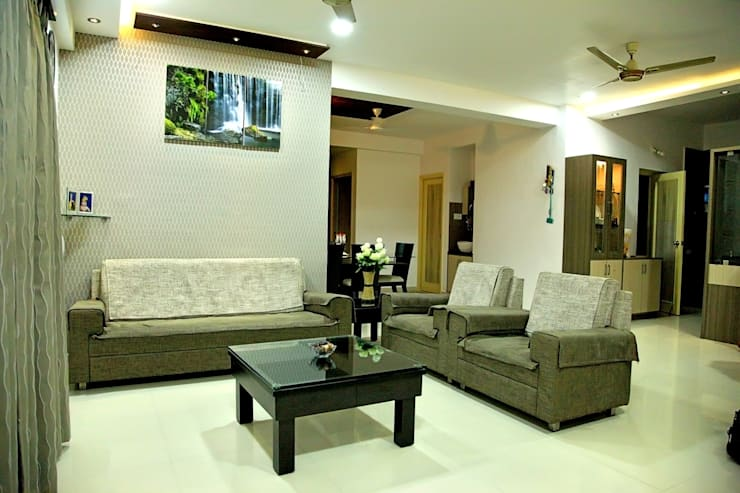 Living Room:  Living room by ZEAL Arch Designs