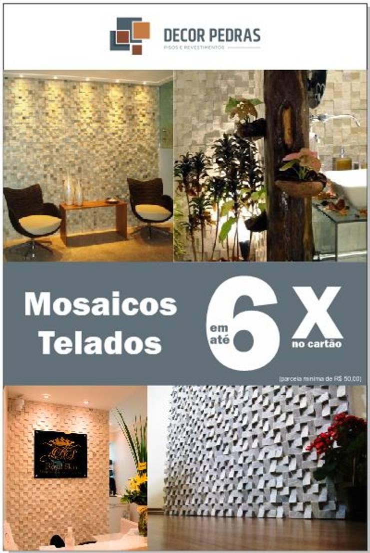 MOSAICOS TELADOS EM ATÉ 6X:   por DECOR PEDRAS PISOS E REVESTIMENTOS,
