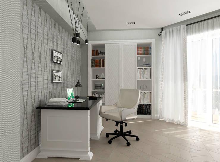 """Кабинет """"Delicate Chic"""" vol. 2 Рабочий кабинет в классическом стиле от Студия дизайна Дарьи Одарюк Классический"""