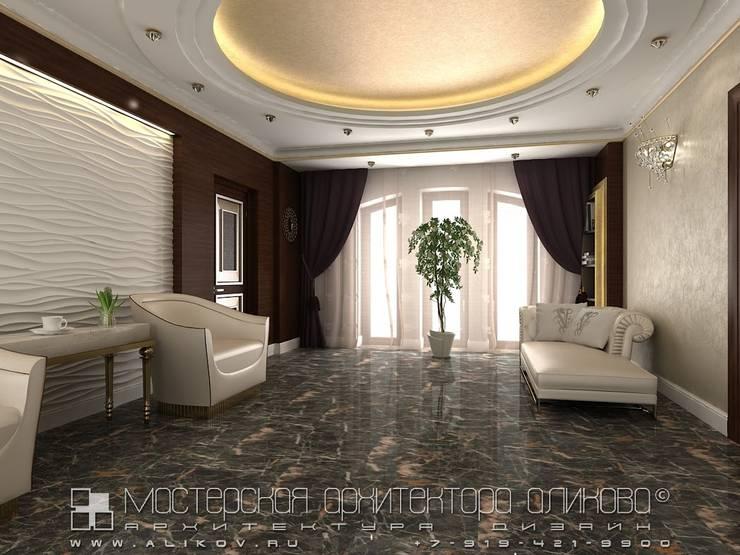 Интерьер дома во Владикавказе: Гостиная в . Автор – Мастерская архитектора Аликова