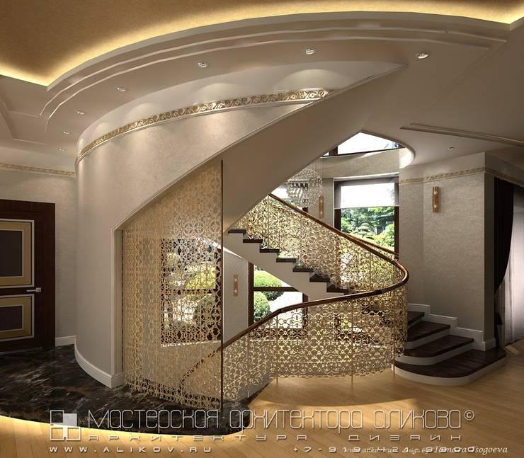 Интерьер дома во Владикавказе: Коридор и прихожая в . Автор – Мастерская архитектора Аликова