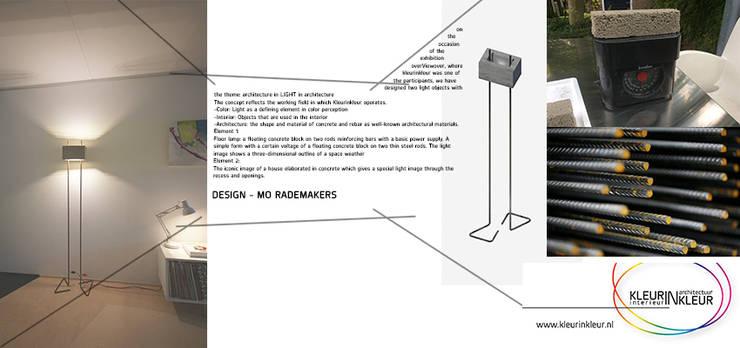 staande lamp:  Woonkamer door KleurInKleur interieur & architectuur