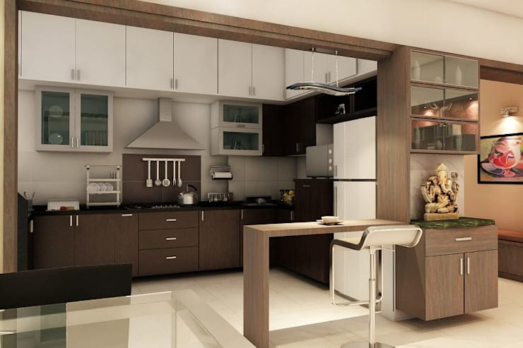 Apartment at Ajmera Infinity: modern Kitchen by ACE INTERIORS