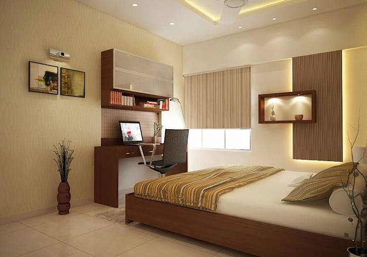 Apartment at Ajmera Infinity:  Bedroom by ACE INTERIORS