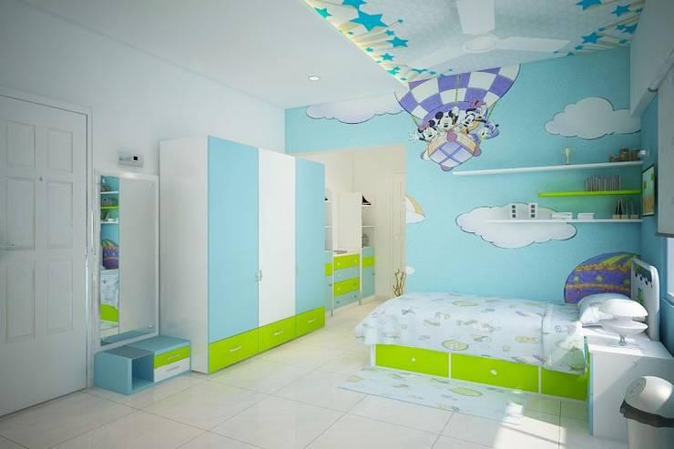 Apartment at Ajmera Infinity:  Nursery/kid's room by ACE INTERIORS