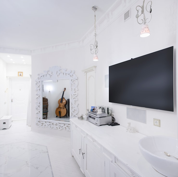 """2-х комнатная квартира 47,68 m2 в ЖК """"Лосиный остров"""" Гостиная в классическом стиле от Архитектурно-дизайнерское бюро Натальи Медведевой 'APRIORI design' Классический"""