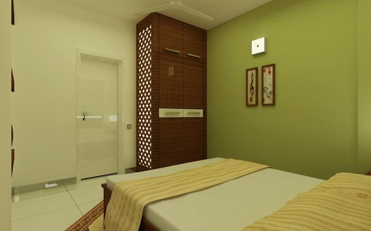 Project at Elita Promenade:  Bedroom by ACE INTERIORS
