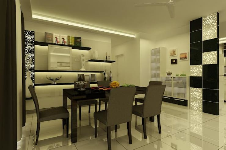 Project at Elita Promenade:  Dining room by ACE INTERIORS